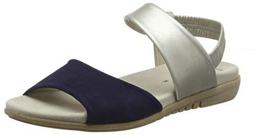 Gabor Shoes Damen Casual Riemchensandalen, Blau (Bluette/Puder 16), 40 EU