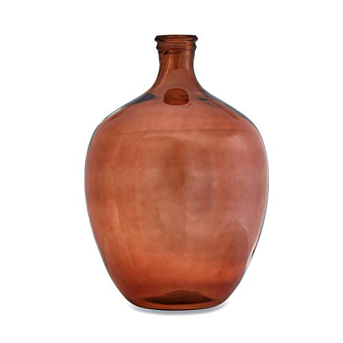 Loberon Vase Numera, Glas, H/Øca. 48/27 cm, braun