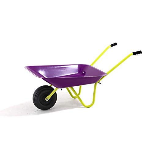 Hörby Bruk Hörby Bruck Kinderschubkarre Funny (Farbe lila/gelb, Kunstoffrad ø 17 cm, Stahlwanne, Gummigriffe, Gartenwerkzeug) 1190