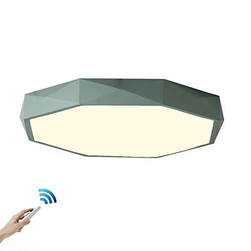 RUIXINBC Led-plafondlamp, ronde plafondlampen, moderne sterkte, 6 cm ultradunne plafondlamp met afstandsbediening, woonkamer, slaapkamer, eetkamer, studeerkamer