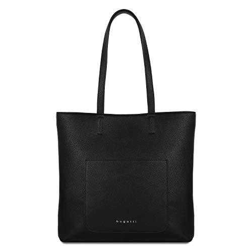 Bugatti Chiara Shopper Handtasche Damen Groß, Damenhandtasche Schultertasche – Schwarz