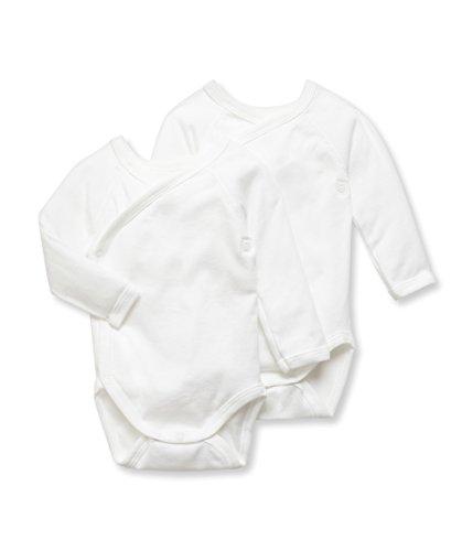 Petit Bateau Petit Bateau LOT 2P N.ml, Körper Unisex-Baby, Einfarbig, Gr. 56 (Herstellergröße: 1m/54cm), Weiß (SPECIAL LOT 00)