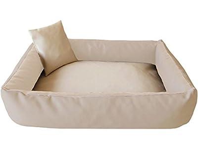 ELMO Perros sofá cama para perros Dormir Espacio Perros Cojín Cesta de piel sintética Tallas: S–XXL