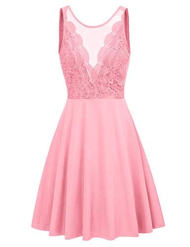 GRACE KARIN Women Pink Dress Teens Graduation Party Dress XX-Large Pink