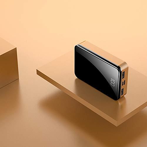 GWX 10000 mAh draagbare oplader, 2 externe accu's met USB-uitgang en intelligent digitaal display, met hogesnelheidsoplaadtechnologie