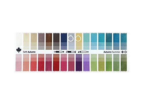 Stoff-Farbpass Herbst-Sommer (Soft Autumn) mit 30 typgerechten Farben zur Farbanalyse, Farbberatung, Stilberatung
