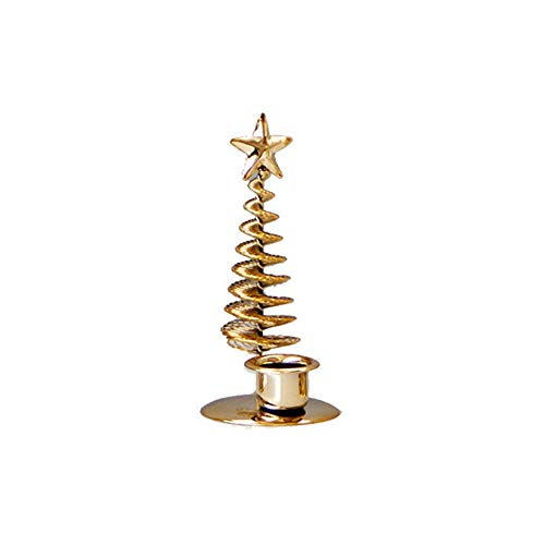 BELUPAID Metal Candelabra Candlestick, Shiny Elegant Christmas Tree with Candle Holder Stand, Great for Home Christmas Party Wedding Dining Centerpiece Decoration