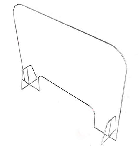Estornudo Guardia Escudo, portátil de pantalla encimera de seguridad, incoloro acrílico plexiglás Escudo, Divisor de restaurante tiendas de comestibles, contra la Tos Estornudos,40 * 60cm