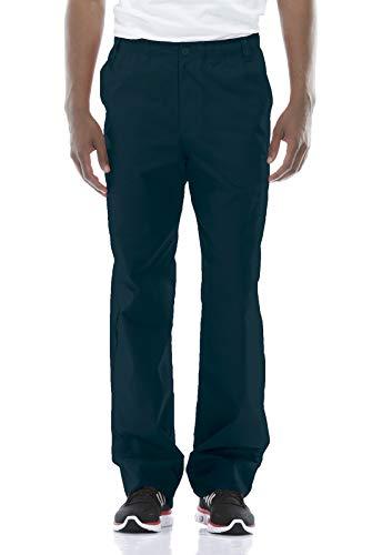 Dickies Men's Big Signature Elastic Waist Scrubs Pant, Caribbean Blue, Medium Tall