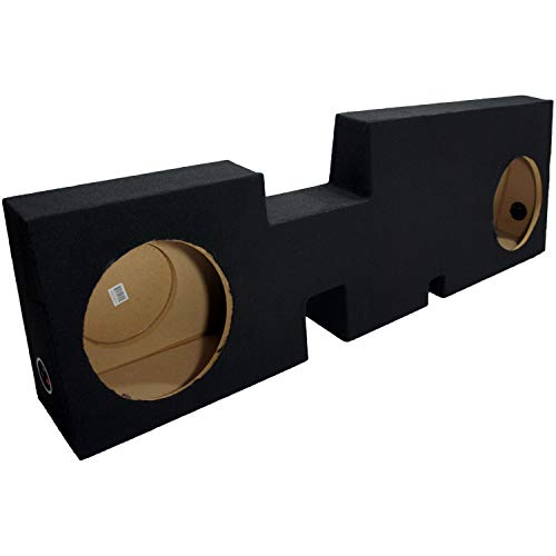 Compatible with 2017-UP Fits Ford F-250 Supercrew Crew Cab Truck Dual 10' Sub Box Subwoofer Enclosure