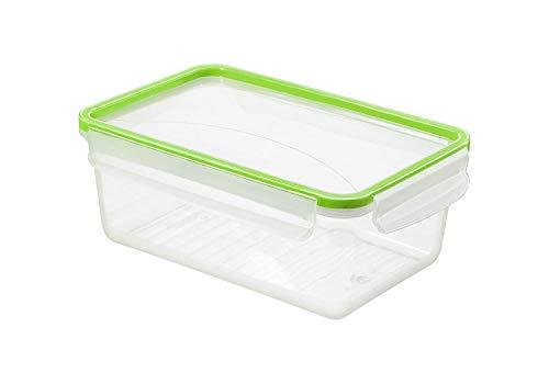 Rotho Clic & Lock Frischhaltedose 2l mit Deckel und Dichtung, Kunststoff (PP) BPA-frei, transparent/grün, 2l (23,9 x 16,0 x 9,2 cm)