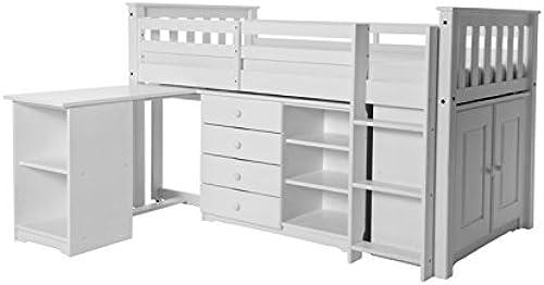 Design Vicenza Arno Sleep Station, Holz, Weiß, Einzelbett