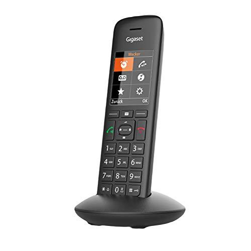 Gigaset C570HX DECT,Telefon schnurlos für Router , Fritzbox, Speedport kompatibel , großes Farbdisplay , leichte Bedienbarkeit , großes Adressbuch , Ruhe vor anonymen Anrufen, schwarz