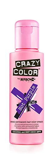 Crazy Color, Coloración semipermanente (color Hot Purple, nº 62), 100 ml