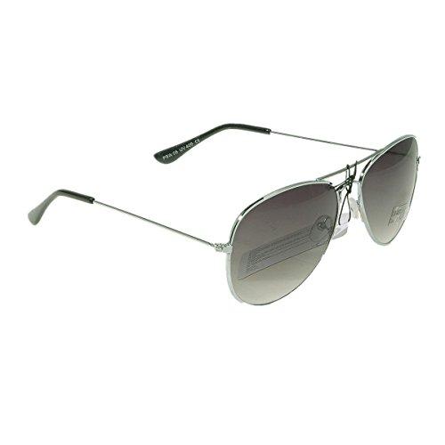 Unbekannt Pilotenbrille Sonnenbrille Fliegerbrille Pornobrille mit Federscharnier NICHT verspiegelt (Klar) (Dunkelgrün Gläser/Silber Rahmen)