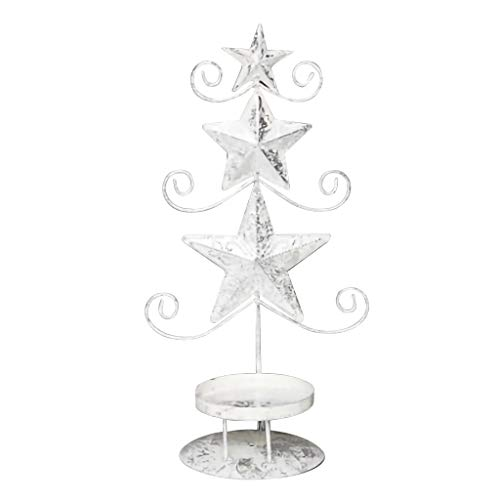 Christmas decorations streamlined Nordic style candle holder hotel restaurant wrought iron candle holder decoration (A)