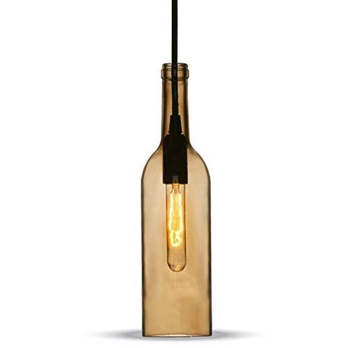 V-TAC SKU. 3776Hängeleuchte Flasche Leuchtmittel vt-7558, Kunststoff, und andere Material, E14, braun, Höhe x Breite x Tiefe: 72mm x 280mm x 1050mm