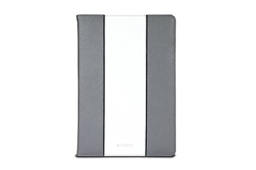 Maroo - Folio Case for Microsoft Surface Pro 3/Pro 4 Premium Leather - Grey/White