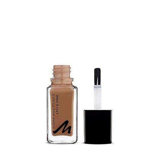 Manhattan Last & Shine Nagellack, Brauner, glänzender Nail Polish für 10 Tage perfekten Halt, Farbe Dare You 430, 1 x 10ml