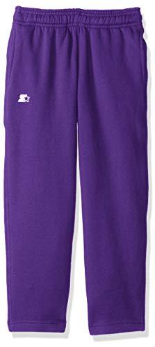 Starter Girls' Open-Bottom Sweatpants with Pockets, Amazon Exclusive, Team Purple, XS (4/5)