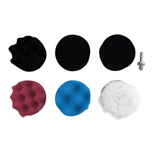 7pcs Gross Polishing Buffing Pad Kit for Auto Car Polishing Wheel Kit Buffer with Drill Adapter