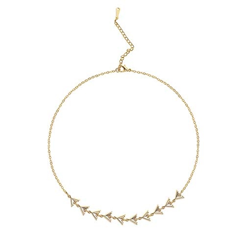 CNZXCO Joker Chain, Choker Collar, S925 Silvered Chocker Necklace, Triangular Herringbone Necklace For Women (Color : Silver)