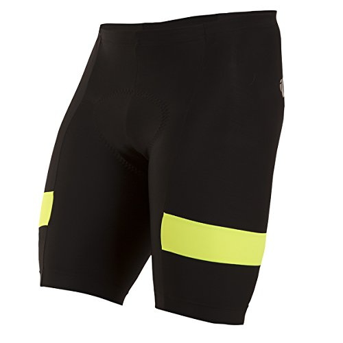 PEARL IZUMI - Yoga-Shorts für Herren in Schwarz/Schreiend Gelb, Größe XXL