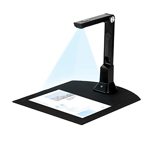 Document Camera for Teachers Laptop, Ultra HD USB doc cam Book and Document Reader A4 Scanning Software with LED Light for Online Teaching, Classroom, Distance Learning, Windows