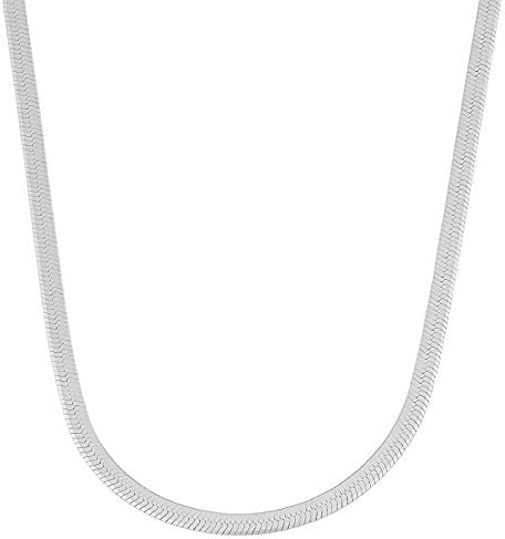 Verona Jewelers Sterling Silver 4 5MM Herringbone Flat Snake Magic Chain 925 Vintage Shiny Anklet product image