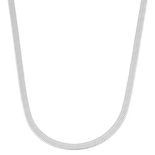 Verona Jewelers Sterling Silver 3.3MM Herringbone Flat Snake Magic...