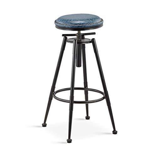 Taburete de la barra retro, viento industrial de altura regulable Taburete de cocina Café Bar de contador de alta heces Fácil de instalar elevación Silla de bar ( Color : A , Size : 68-90CM )