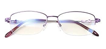 Alsenor Progressive Multifocal Computer Reading Glasses Blue Light Blocking Reader Glasses Frame For Men And Women  Purple 2.0 x