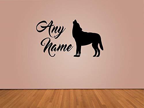 yaonuli Wölfe aangepaste naam muurtattoos voor kinderkamer woonkamer vinyl waterdichte muursticker