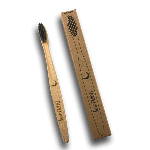 Cepillo de dientes de bambú y carbón activo para niños, luna