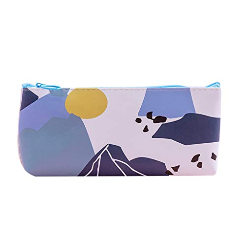 Pencil Case for Girls, Amiley New Design Big Capacity Stationery Pencil Pouch with Zipper Makeup Bag Cases Cosmetic Holder Box Organizer Gift for Beginner & Artist (D)
