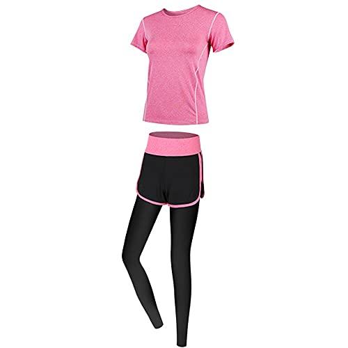 Ropa deportiva para mujer, de secado rápido, para correr, gimnasio, profesional, moda, yoga, entrenamiento, delgada, color rojo, talla mediana