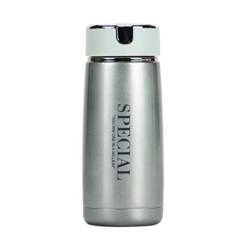 FPXNBONE Doppelwandige Isolierung Isolierflasche,Tragbare Filtertasse, Mini Student Mug-Green_230ml,Thermos Keeps Beverages Hot or Cold