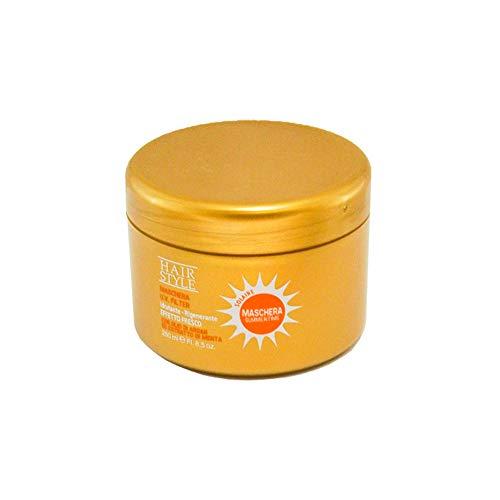 Máscara para el pelo con Filtro Uv Hidratante Regenerante Efecto Fresco con Aceite de Argan y Extracto de Menta, Mascarilla Capilar SummerTime