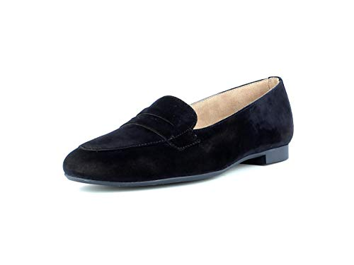 Paul Green Damen Mokassins 2389, Frauen Slipper, Freizeit leger schlupfhalbschuh Slip-on College Schuh Loafer businessschuh,BLAU,41 EU / 7.5 UK