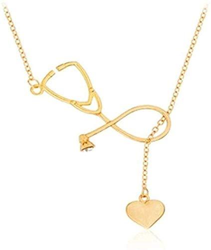 niuziyanfa Co.,ltd Necklace Stethoscope Pendant Necklace Combination Heartbeat Love Syringe Pendant Medical Nurse Doctor Lover Gifts
