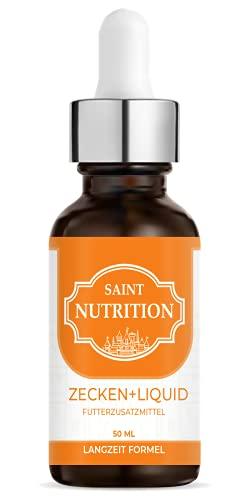 Saint Nutrition NEU Zeckenschutz – hochwirksames Zecken Oil für Hunde und Katzen - natürlicher Schutz für Ihr Haustier – Sofortwirkung