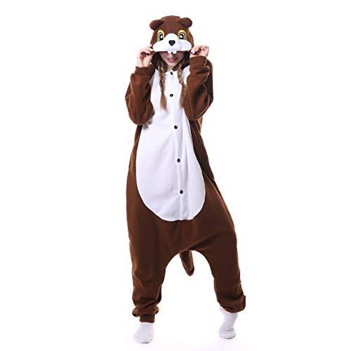 Carnival Spielanzug Kostüme Eichhörnchen Pyjamas Bekleidung Animal Erwachsene Unisex Schlafanzüge Karneval Onesies Cosplay Jumpsuits Anime Weihnachten Halloween Nachtwäsche Mädchen