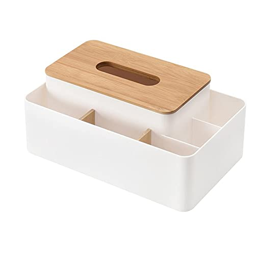 WYFDC Caja de Tejido Titular de Control Remoto Maquillaje Caja de Almacenamiento cosmético Servilleador Papel Contenedor Organizador de Escritorio Organizador de la decoración de la casa Herramientas