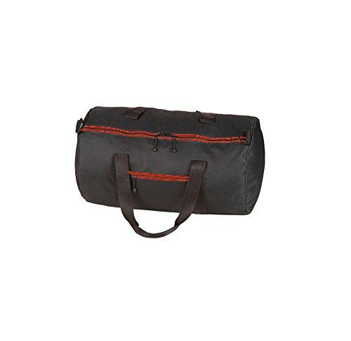 borsone sportivo tubolare zip colorata a contrasto weekend bag 50x30x30 cm art. 906 (nero/rosso)
