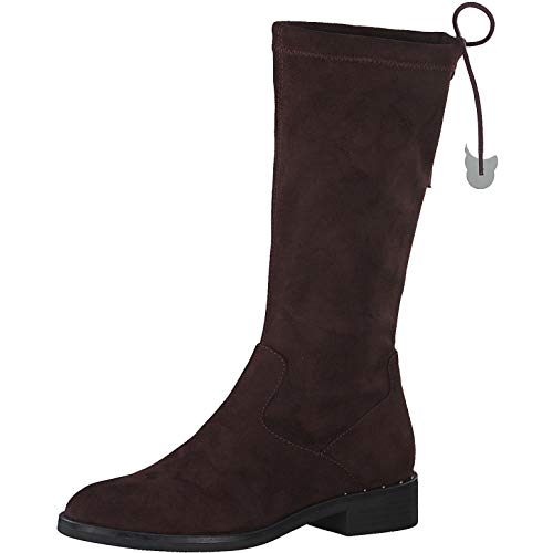 s.Oliver Damen Stiefel 25514-23, Frauen KlassischeStiefel, Ladies feminin elegant Women's Women Woman Freizeit leger Boots Damen,Wine,41 EU / 7.5 UK