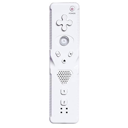 Telecomando Wireless Sensore CMOS Integrato per Wii Wii U, Controller Sostitutivo del Gamepad Remoto Wireless per Console Nintend Wii E Wii U, Bianco