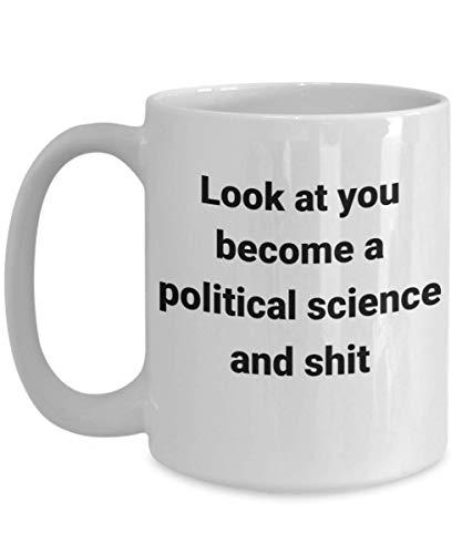 Taza divertida de ciencias políticas - Mírate - La mejor idea de regalo para el profesor de política social, compañero de trabajo, jefe, historia, gobierno económico o acogedora taza de café d