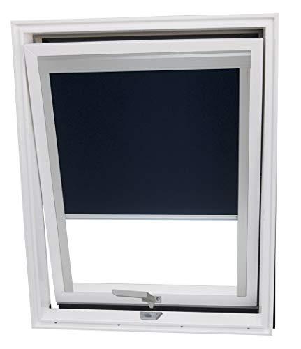 Balio Dachfenster Kunststoff incl. Verdunkelungsrollo und Universal - Eindeckrahmen 0-50mm (78 x 112)