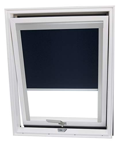 Balio Dachfenster Kunststoff incl. Verdunkelungsrollo und Universal - Eindeckrahmen 0-50mm (66 x 112)