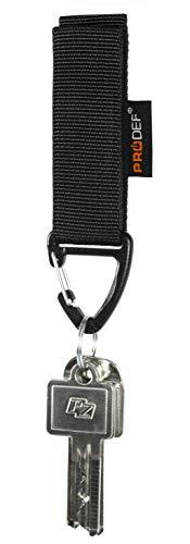 PRODEF ® Gürtelanhänger für Schlüssel Mod. II, Verstellbarer Klettverschluss